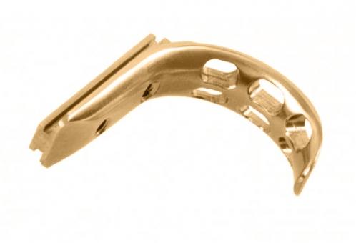 Abzug aus Titan, vergoldet