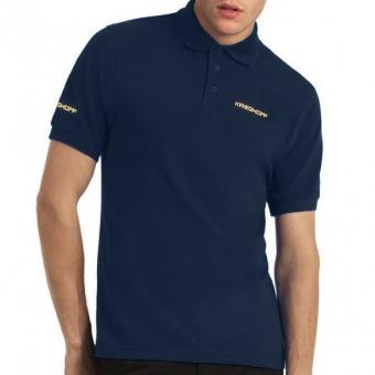 Polo Shirt Men, navy blue 3XL