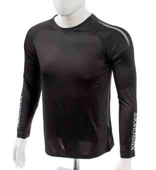 Langarm Funktionswäsche-Shirt, schwarz