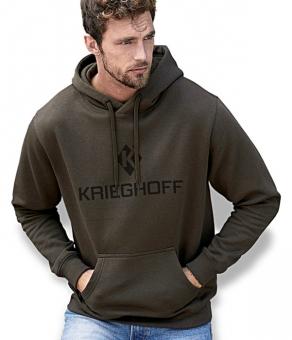 Sweatshirt mit Kapuze, dark olive