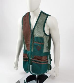 """Shooting Vest """"London II"""" leather, green"""