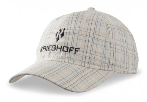 Schildkappe Krieghoff kariert, beige/blau/weiß/grau
